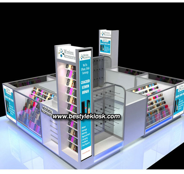 phone accessories kiosk
