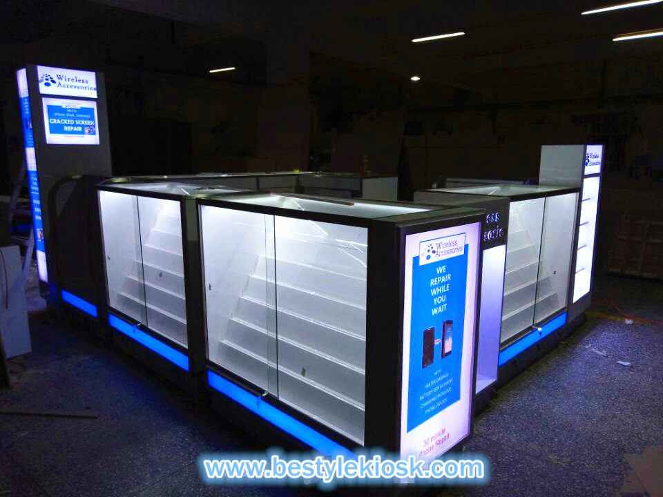 phone accessories kiosk production