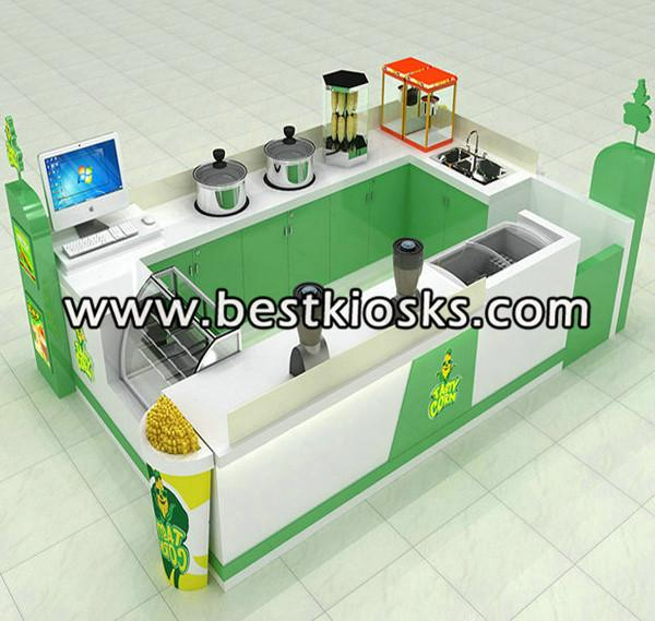 Green and white sweet corn kiosk for sale