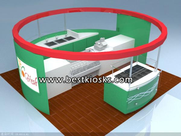 Frozen yogurt kiosk with yougrt topping bar for sale