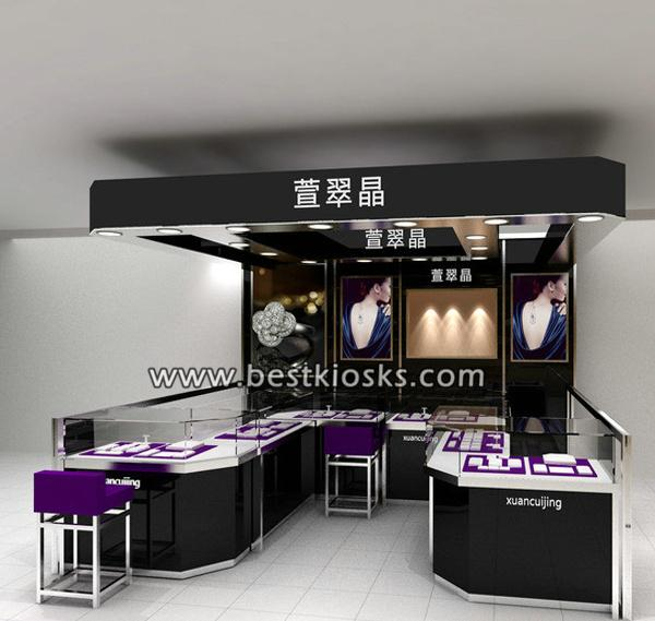 Noble jewelry shop interior design, jewelry store fixture for sale