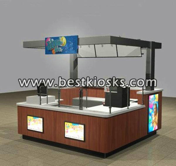 Plywood coffee bar design coffee booth coffee kiosk for mall
