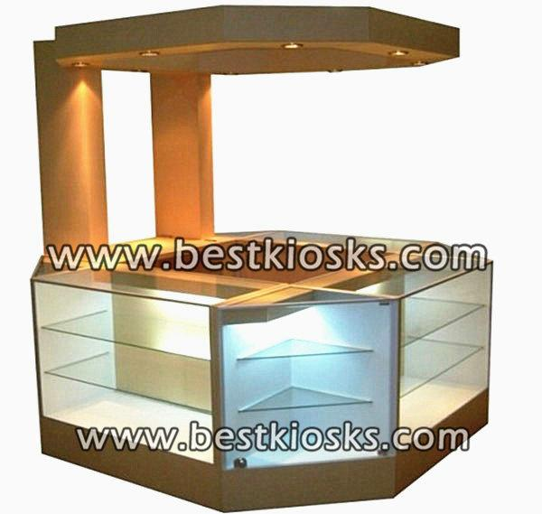 Tempered glass  display showcase perfume kiosk for sale
