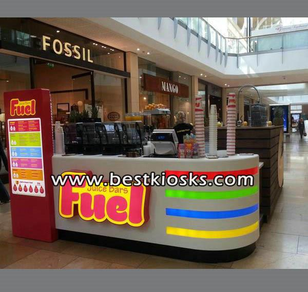 Best selling juice drink food kiosk coffee kiosk in shopping mall