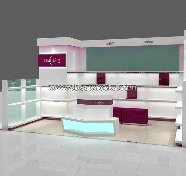 Shopping mall island kiosk design for shoes shop