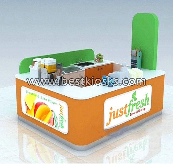 Shopping mall fruit juice kiosk booth design with CE approved