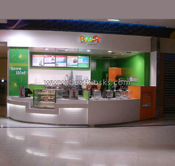Cafeteria interior design juice bar kiosk for mall