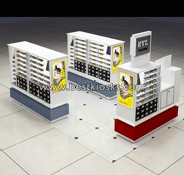 Movable shopping mall sunglasses kiosk for sale