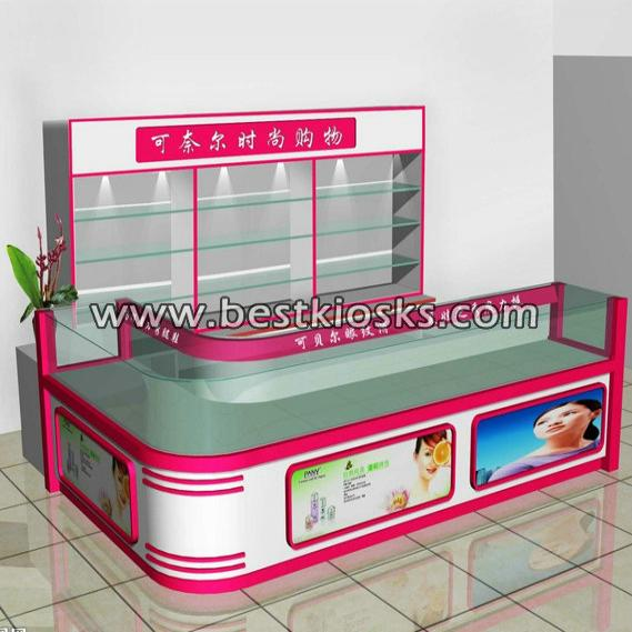 Shopping mall glass display showcase kiosk