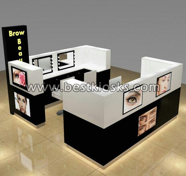 Sample salon barber kiosk hair dressing kiosk in mall