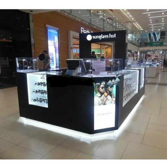 Classical sunglasses kiosk used in shopping mall
