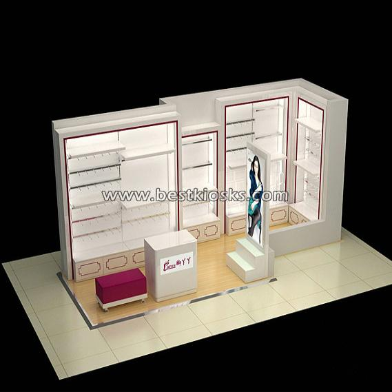 Shopping mall garment display rack for retail