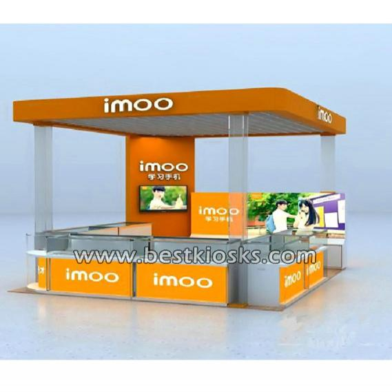 Electronic products display showcase kiosk custom made