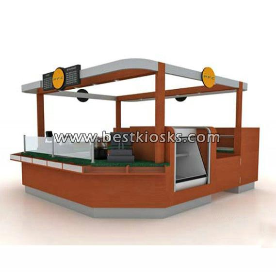 Wooden coffee bar counter coffee kiosk design for sale