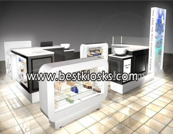 Retail kiosk for  cosmetic displays showcase