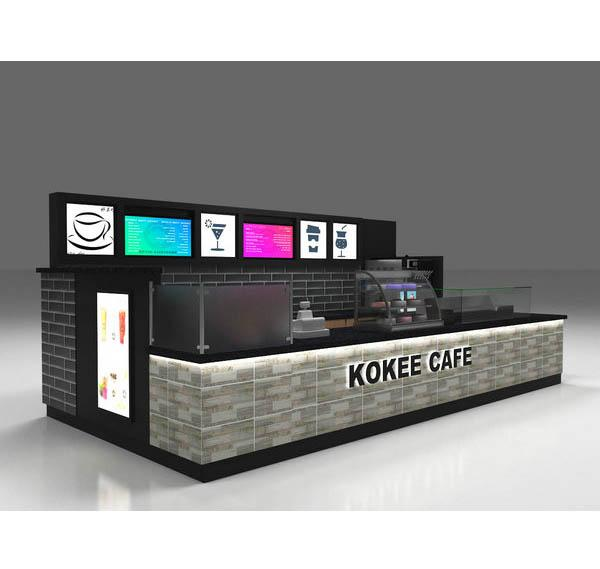 New design shopping mall retail indoor coffee bar kiosk for sale