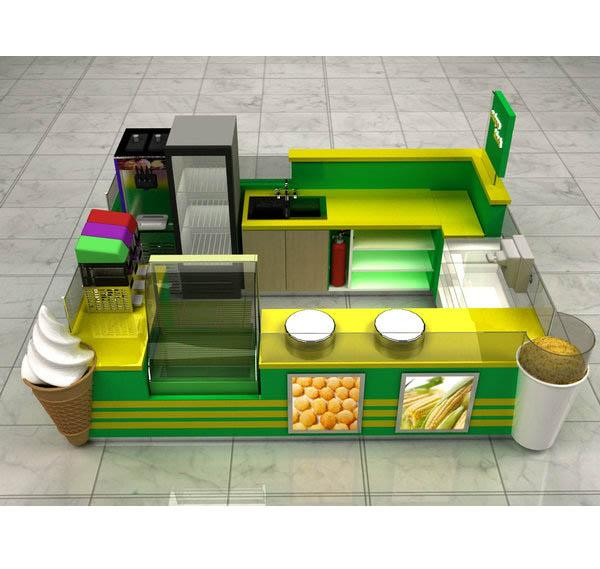 Cheap price better quality sweet cup corn kiosk mall corn kiosk