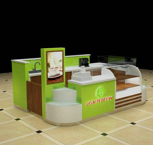 Customized indoor coffee crepe kiosk fast food kiosk for sale