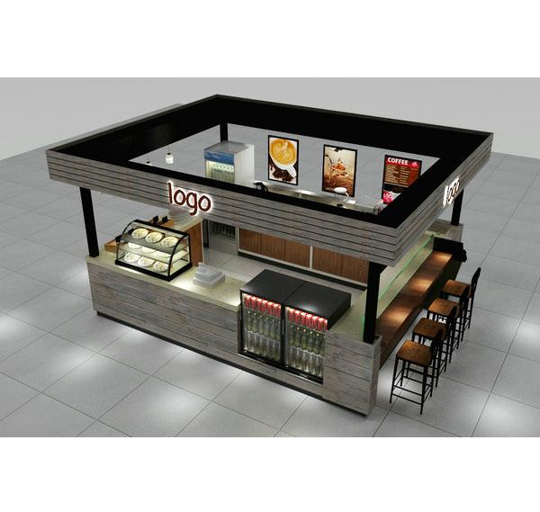 High-end wooden design mall coffee kiosk coffee booth for sale