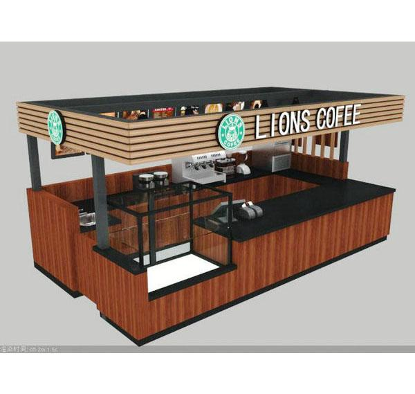 Modern fast food shop bakery kiosk coffee kiosk design