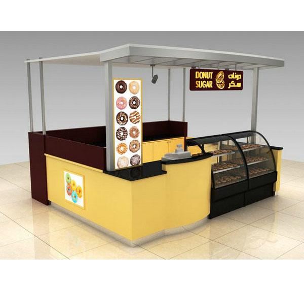 Hot sale modern snack food sugar kiosk donut kiosk