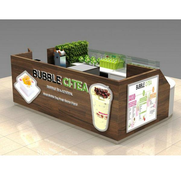 Customized high quality frozen yogurt bubble tea kiosk for sale