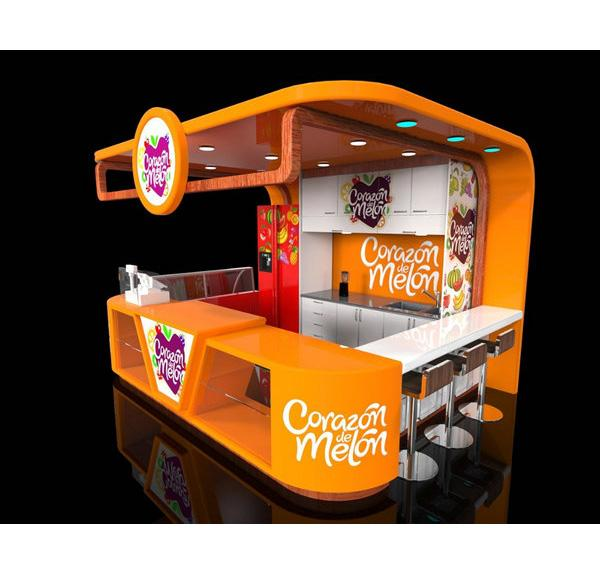 Shopping Mall 10x12ft Bubble Tea Kiosk Juice Bar kiosk for Sale