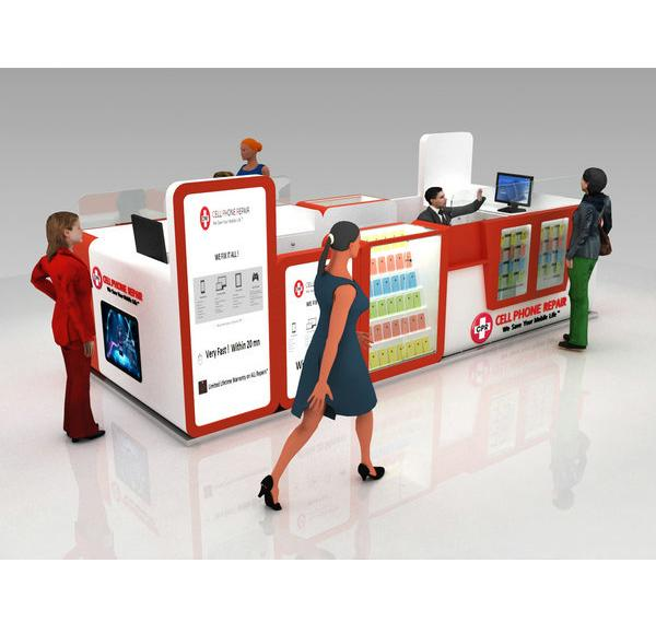 High-end finished shopping mall cellphone repair kiosk for sale