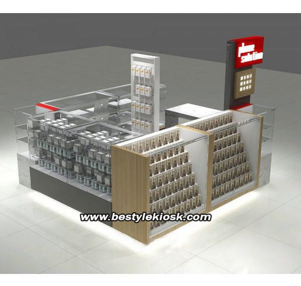 China supply high quality cell phone accessories kiosk for shopping mall