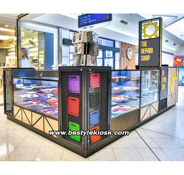 Shopping mall cell phone kiosk cell phone repair kiosk for sale