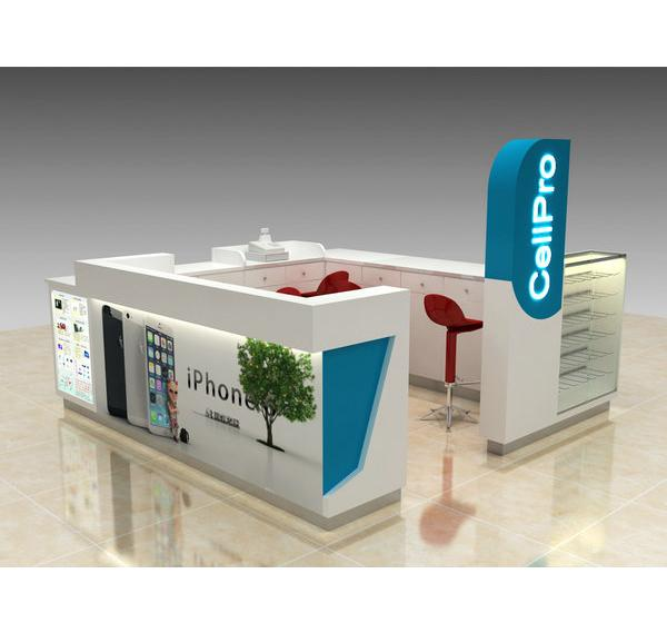 Shopping mall popular style cell phone repair kiosk for phone fix business