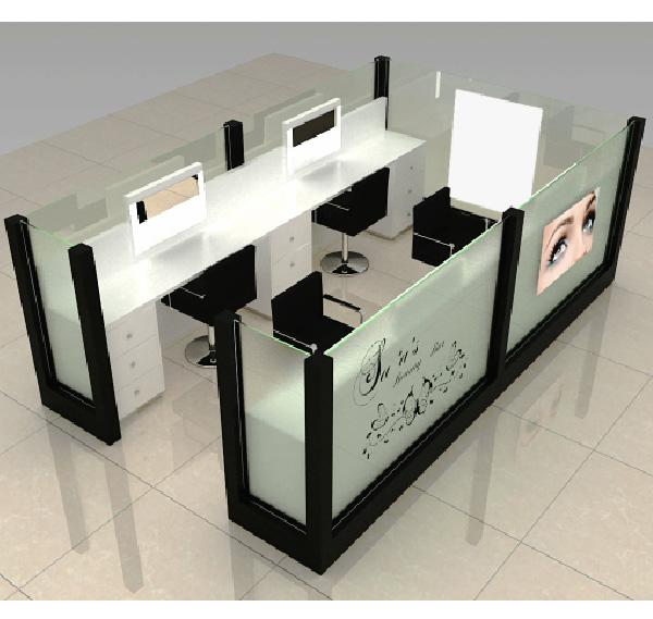 Fashion design shopping mall eyebrow threading kiosk eyebrow bar