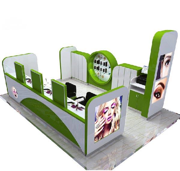 Fashionable high quality eyebrow kiosk for mall brow bar store
