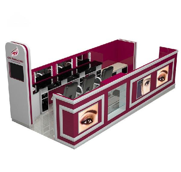 Standard mall salon kiosk for eyebrow threading bar brow bar