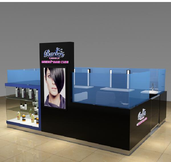 Shopping mall beauty salon hair dressing kiosk barber kiosk for sale
