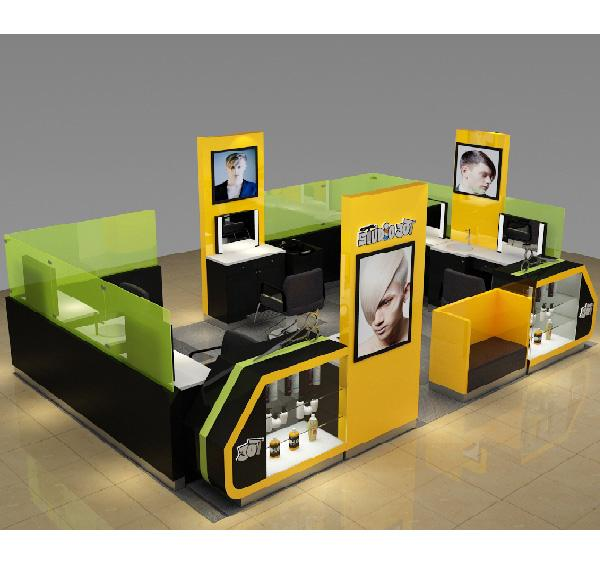 High quality and popular design hair salon kiosk for barber shop