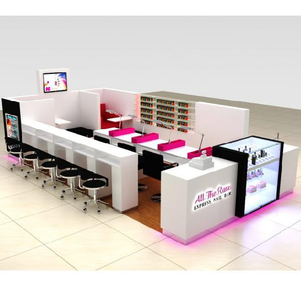 High quality shopping mall nail kiosk beauty manicure bar shop