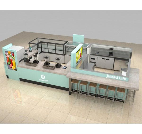 Factory price fresh juice bar kiosk coffee kiosk for food store