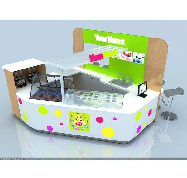 Modern mall food kiosk bubble tea Kiosk ice cream kiosk for sale