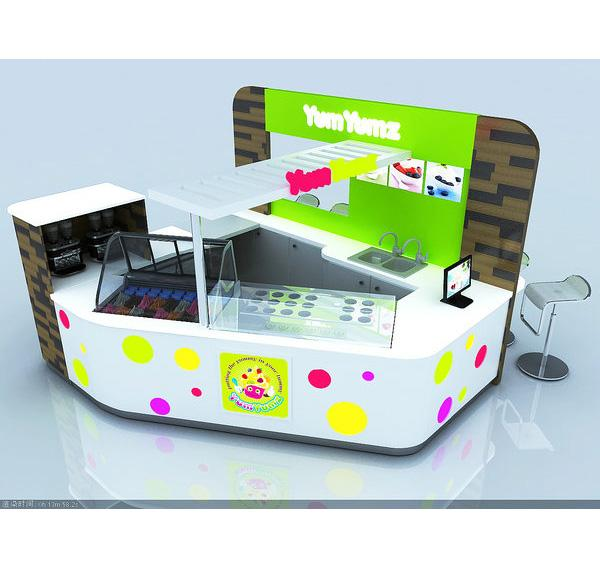 United stated ice cream kiosk frozen yogurt kiosk for shopping mall