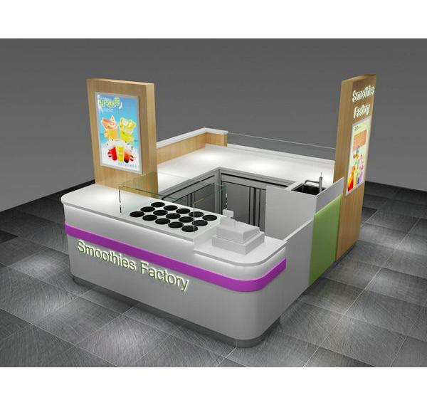 10 by 10 foot shopping mall ice cream kiosk smoothies bar for sale
