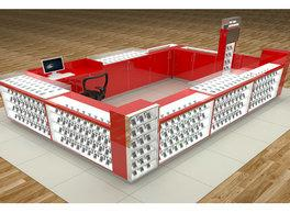 Customized shopping mall cell phone accessories kiosk ideas