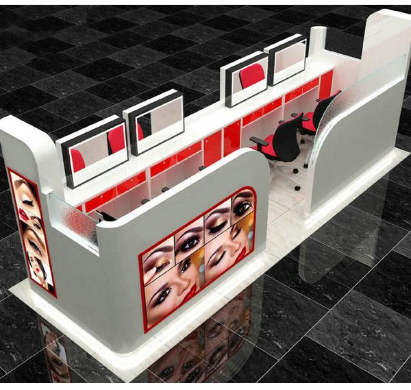 Australia style shopping mall eyebrow bar nail kiosk design