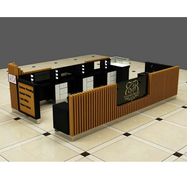 Exquisite wooden Australia eyebrow threading kiosk for shopping mall