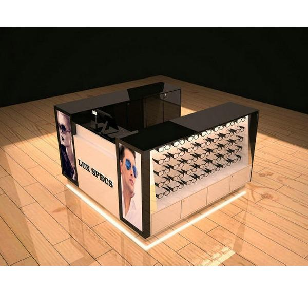 High end eyewear bar sunglass kiosk for shopping mall