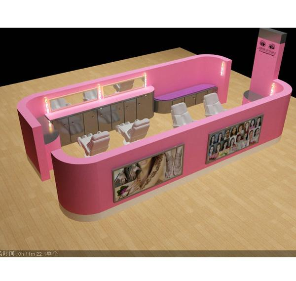 Pink eyebrow threading bar barber kiosk eyebrow kiosk for sale