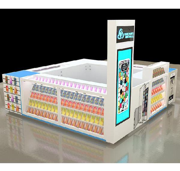 Popular style mobile phone accessories kiosk for cellphone display