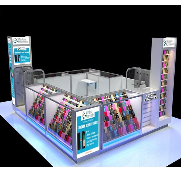 Mall mobile phone accessories kiosk phone repair counter for phone shop