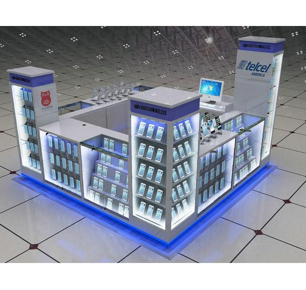 Hot sale shopping mall cell phone accessories kiosk for phone shop