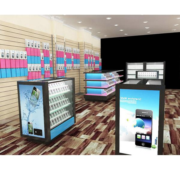 Exquisite mobile phone display kiosk stand for cell phone store